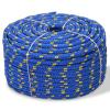 vidaXL kék polipropilén hajókötél 10 mm 50 m