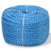 vidaXL kék polipropilén sodrott kötél 12 mm 500 m