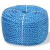 vidaXL kék polipropilén sodrott kötél 6 mm 200 m
