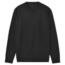 vidaXL Kerek nyakú férfi pulóver/szvetter fekete M-es