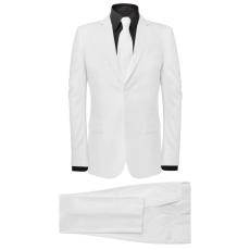 vidaXL két darabos férfi öltöny nyakkendővel méret 50 fehér