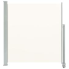 vidaXL krémszínű behúzható oldalsó terasz napellenző 140 x 300 cm fogó