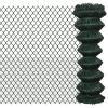 vidaXL Lánc Drótkerítés 1,25 x 15 m Zöld