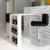 vidaXL Magasfényű bárasztal 3 polccal fehér