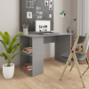 vidaXL Magasfényű szürke forgácslap íróasztal 110 x 60 x 73 cm