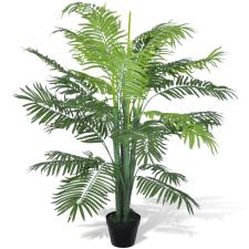 vidaXL Mesterséges Főnix Pálmafa Edény 130 cm fa és növény