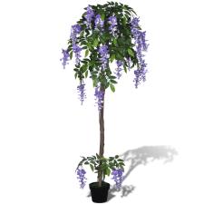 vidaXL Mesterséges Lila Akác Edény 160 cm fa és növény
