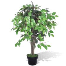 vidaXL Mesterséges Növény Fikuszfa Edény 90 cm fa és növény