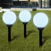 vidaXL Napelemes Gömb kültéri lámpa LED égő 20 cm 3 db Cövekkel