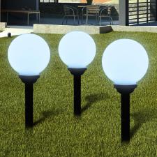 vidaXL Napelemes Gömb kültéri lámpa LED égő 20 cm 3 db Cövekkel kültéri világítás