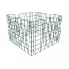 vidaXL Négyzet alakú rácsos komposztáló 100 x 100 x 70 cm