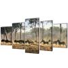 vidaXL Nyomtatott vászon falikép szett zebrák 100 x 50 cm