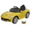 vidaXL Ride-on távirányítós Elektromos kisautó Ferrafi F12 6V sárga