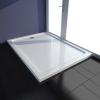 vidaXL Szögletes ABS zuhany alaptálcával 80 x 110 cm fehér