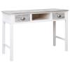vidaXL szürke fa íróasztal 110 x 45 x 76 cm