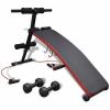 vidaXL Többféle pozícióban állítható haspad 3 kg-s súlyzókkal