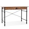 vidaXL tölgyszínű, fiókos íróasztal 110 x 55 x 75 cm