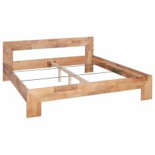 vidaXL tömör tölgyfa ágykeret 160 x 200 cm bútor