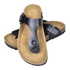 vidaXL Unisex bio parafa csatos szíjú szandál papucs tervezés méret 41 fekete