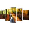 vidaXL Vászon falikép szett erdő 100 x 50 cm