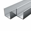 vidaXL vidaXL 4 db alumínium U-alakú csatornaprofil 25x25x2mm, 2 m