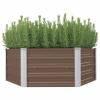vidaXL vidaXL barna kerti magaságyás horganyzott acélból 129 x 129 x 46 cm
