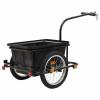 vidaXL vidaXL fekete kerékpár utánfutó 50 L