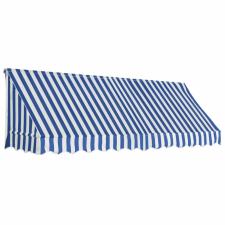 vidaXL vidaXL kék és fehér bisztró napellenző 300 x 120 cm kerti dekoráció