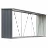 vidaXL vidaXL szürke horganyzott acél kerti tűzifatároló 330 x 84 x 152 cm