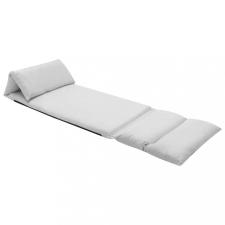 Világosszürke összecsukható mikroszálas padlómatrac bútor