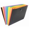 "VIQUEL Harmonika mappa, PP, 8 rekeszes, VIQUEL ""Rainbow Class"", fekete"