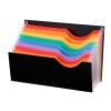 VIQUEL Harmonikairattartó, PP, 9 rekeszes, VIQUEL  Rainbow Class , fekete
