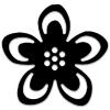Virág alakú 3D sziluett formalyukasztó - 38 mm, többféle