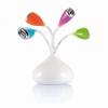Virág formájú 4 fejes USB elosztó, műanyag