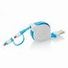 Visszahúzható 2 az 1-ben kábel, kék