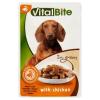 VitalBite teljes értékű állateledel felnőtt kutyák számára csirkével szószban 85 g