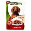VitalBite teljes értékű állateledel felnőtt kutyák számára marhával szószban 85 g