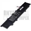 VivoBook X402C Series 4000 mAh 3 cella fekete notebook/laptop akku/akkumulátor utángyártott