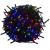 VOLTRONIC® Karácsonyi LED világítás 60 m - színes 600 LED - zöld kábel