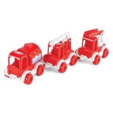 Wader KidCars: 3 db-os tűzoltóautó szett autópálya és játékautó