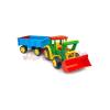 Wader: Óriás traktor utánfutóval és tolólappal