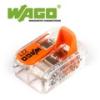 WAGO Wago új karos (csatos) vezeték összekötő, 2 vezeték nyílásos