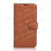 WALLET notesz tok / flip tok - BARNA - asztali tartó funkciós, oldalra nyíló, rejtett mágneses záródás, bankkártyatartó zseb, szilikon belsõ - LG X Cam