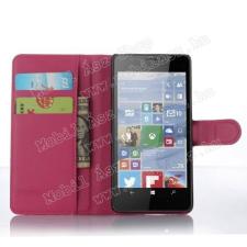 WALLET notesz tok / flip tok - MAGENTA - asztali tartó funkciós, oldalra nyíló, rejtett mágneses záródás, bankkártyatartó zseb - MICROSOFT Lumia 950 / MICROSOFT Lumia 950 Dual SIM tablet tok