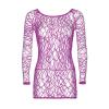 Web Net Long Sleeve Mini Dress