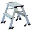 WEDO Fellépő, gurítható,  2x2 lépcsőfok, alumínium, WEDO