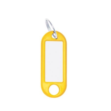 WEDO Kulcscímke, 10 db, WEDO sárga információs címke