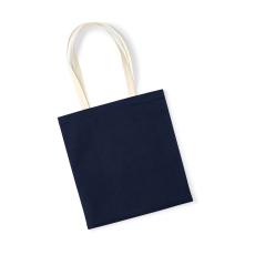 Westford Mill Uniszex organikus bevásárló táska Westford Mill EarthAware™ Organic Bag for Life - Contrast Handle Egy méret, French Sötétkék (navy)/Naturál