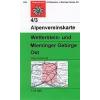 Wetterstein- und Mieminger Gebirge, Ost turistatérkép - Alpenvereinskarte 4/3
