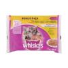 Whiskas Állateledel alutasakos WHISKAS Junior macskáknak 4-pack szárnyas 4x85g